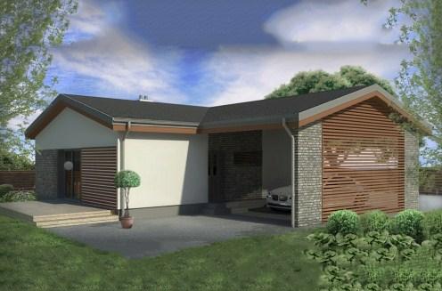 Fachadas de casas con entrada lateral
