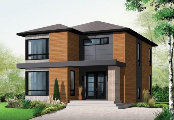 Fachadas de casas con ventanas esquineras