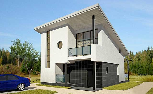 Materiales para frentes de casas part 2 for Fachadas de dos pisos