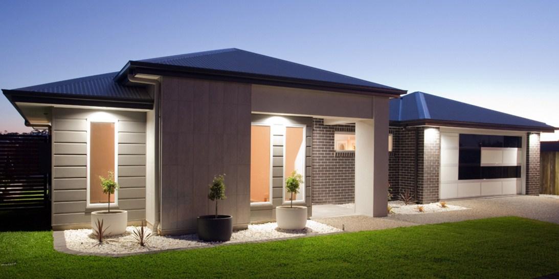 Fachadas de casas de una sola planta