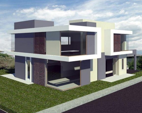 Fachadas de casas esquineras