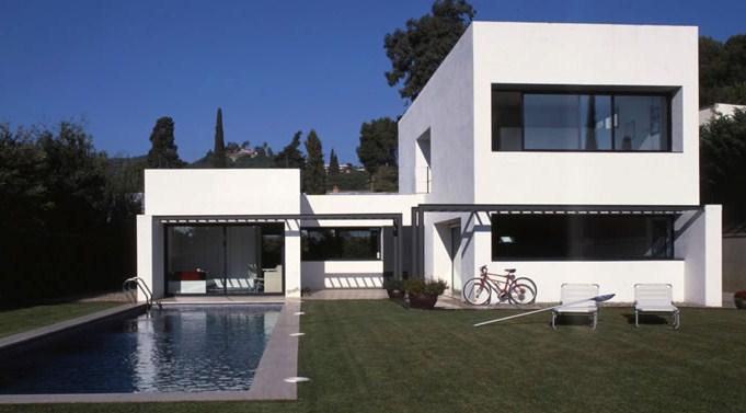 Fachadas de casas modernas con estuco