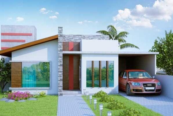 Fachadas de casas con piedra for Casas modernas planos y fachadas