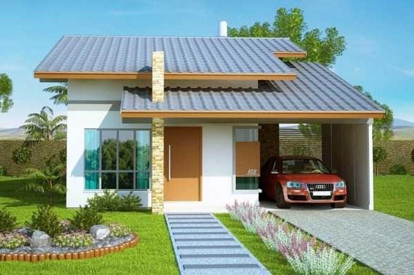 Fachadas de casas modernas con techos inclinados