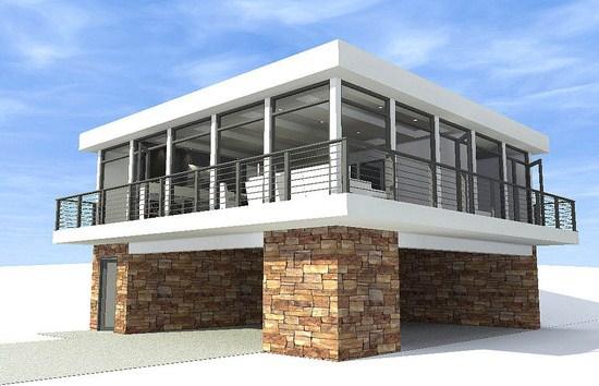 Fachadas de casas modernas con ventanas esquineras