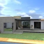 Fachadas de casas de una planta