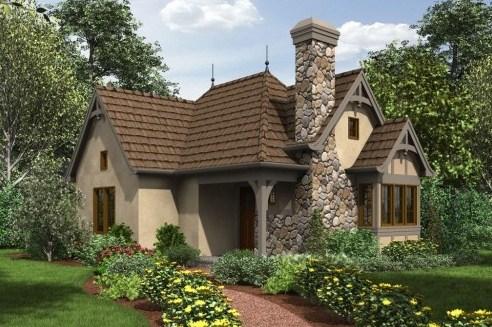 Fachadas de casas rusticas con entrada lateral