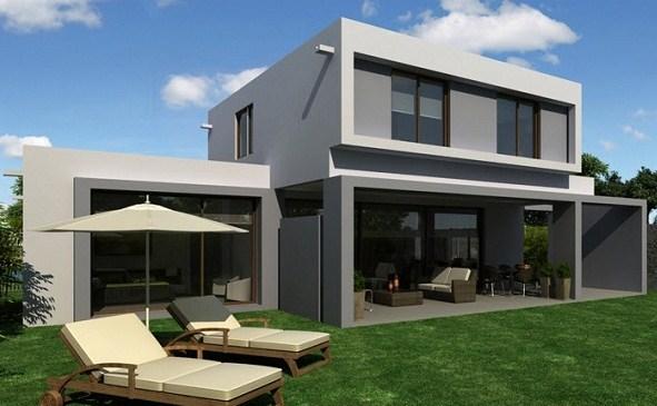Fachadas sencillas for Fachadas minimalistas