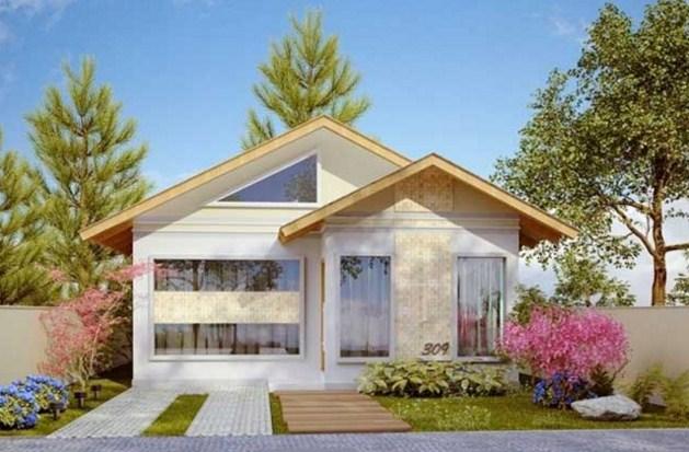 Fachadas simples y modernas