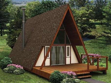 Plano de casa alpina de madera