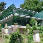 Fachada de casa contemporánea