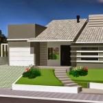 Fachadas de casas para terreno inclinado