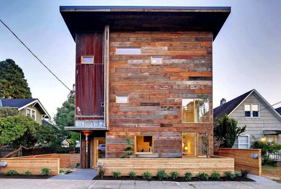 Diseños para fachadas de casas rusticas modernas