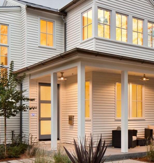 Fachadas de casas con siding