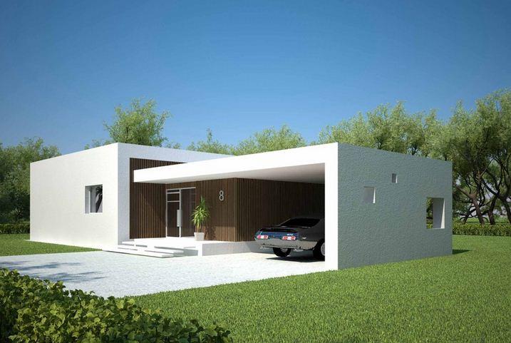 Fachadas de casas minimalistas con una sola ventana