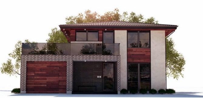 Fachadas de casas modernas con ladrillo aparente