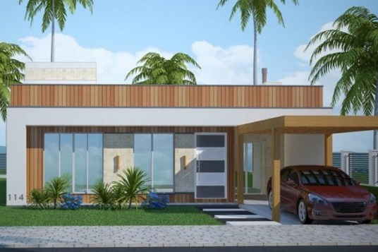 Fachadas de casas modernas con una sola ventana