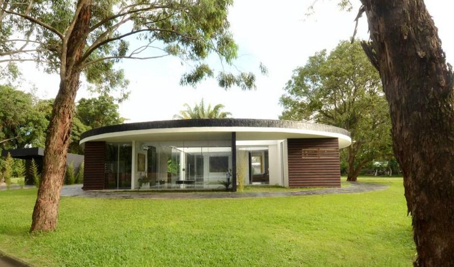 Fachadas de casas redondas modernas