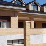 Fachadas de casas con ladrillo aparente