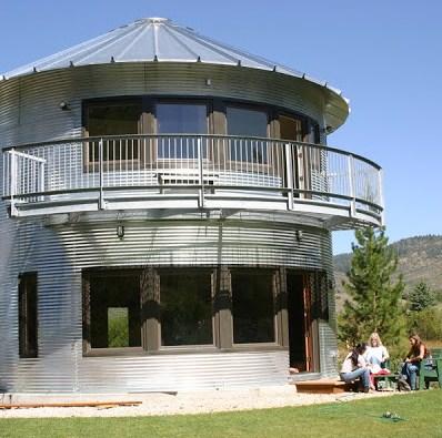 fachadas de casas circulares