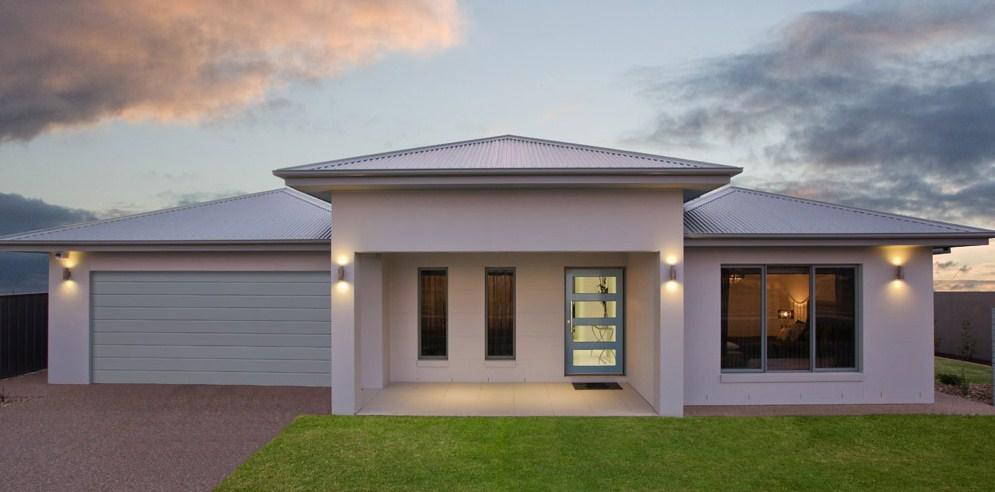 fachadas de casas de un nivel modernas