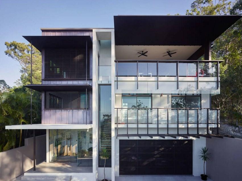 Fachadas de casas modernas for Pisos elegantes para casas