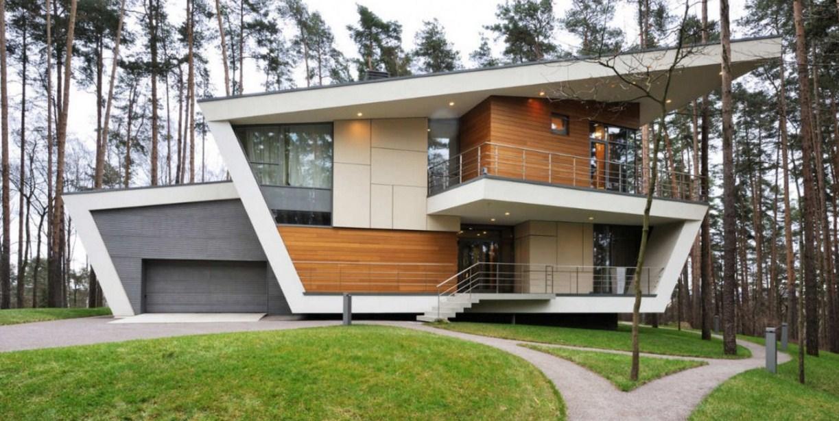 fachadas de casas modernas con fromas raras