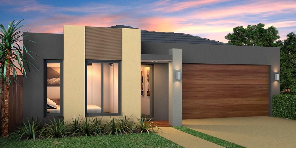 fachadas de casas de un nivel