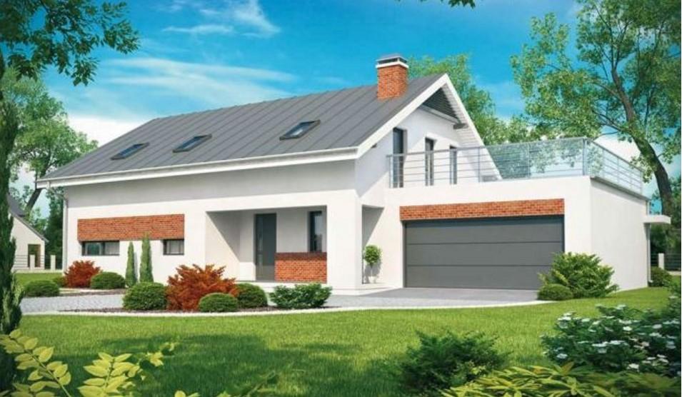 Fachada de casa con balcon for Fachada de casas modernas con balcon