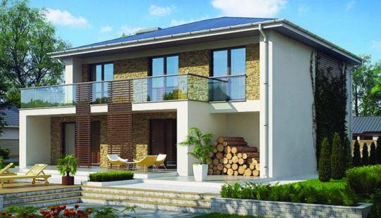 Fachadas bonitas y modernas con terraza