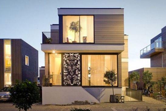 Fachadas contemporaneas de dos pisos
