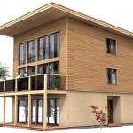 Fachadas de casas de madera segundo piso