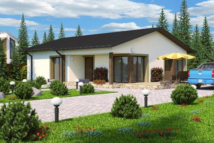 Casas de una planta modernas fachadas de las casas ms for Modelos de casas de una planta modernas