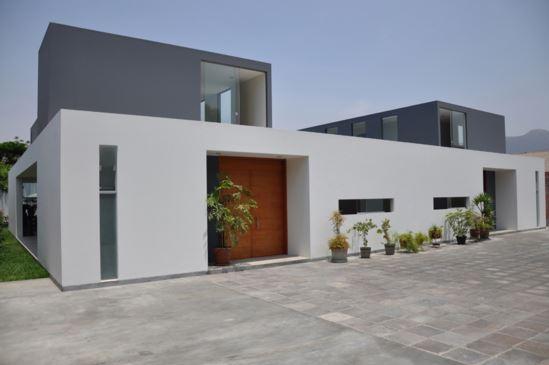 fachadas de casas minimalistas esquina - Casas Minimalistas