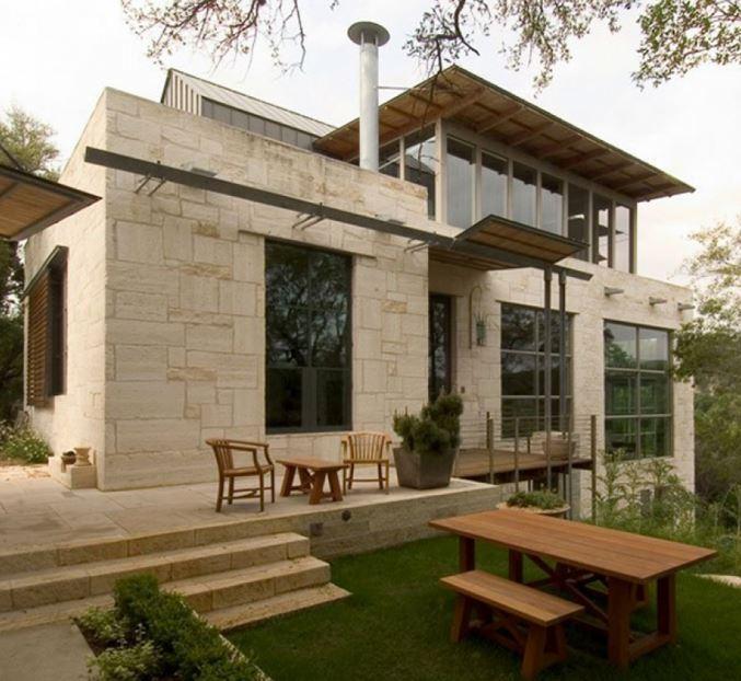 Fachadas de casas modernas con chimeneas - Casas con chimeneas modernas ...