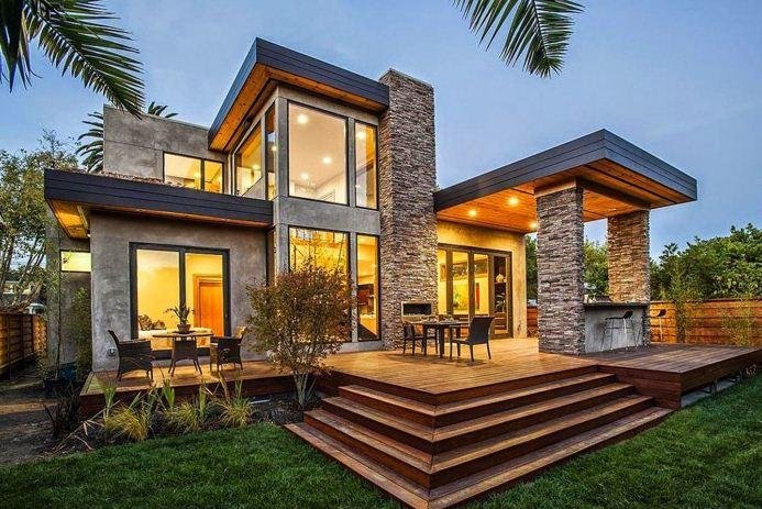 diseño de fachadas de casas con piedras