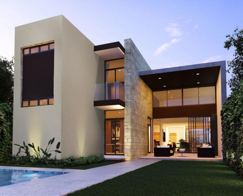 Fachadas de casas modernas for Disenos de casas actuales