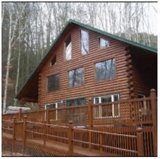 fachada de madera laminada