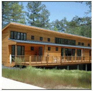 fachada de madera para casas