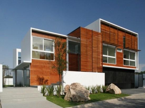 fachadas de casas con parasoles horizontales
