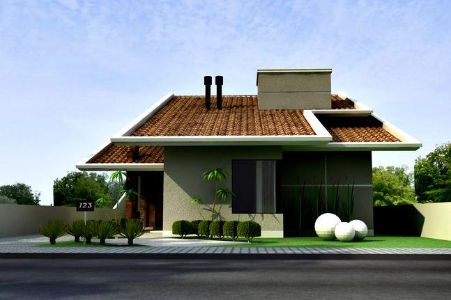 fachadas de casas de dos pisos pintadas
