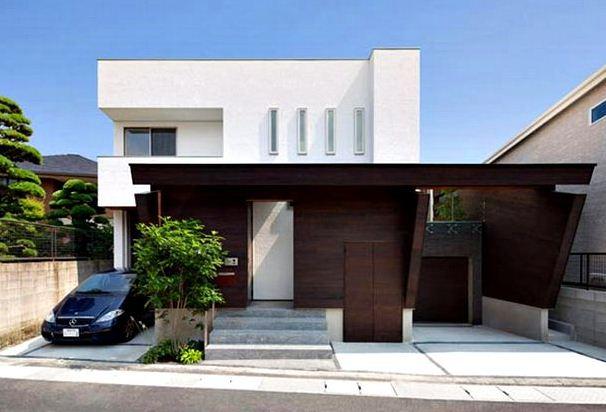 Fachadas de casas de dos pisos en esquina for Cocheras minimalistas