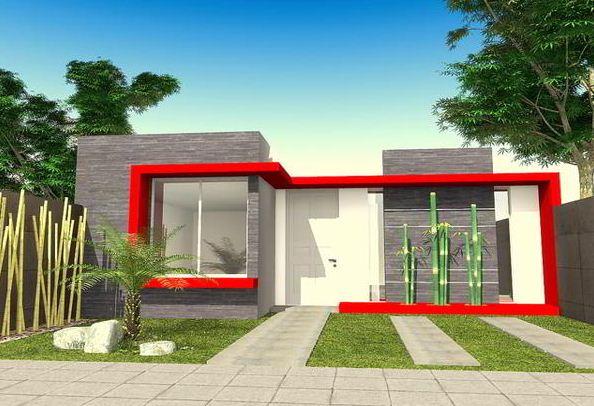 fachadas de casas modernas con piedra y pintura