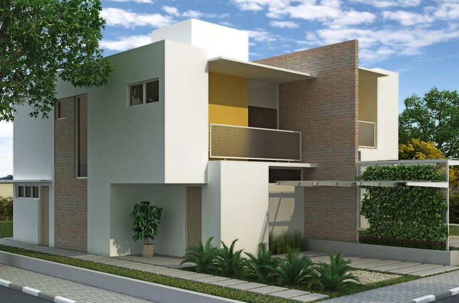 fachadas para casas esquineras