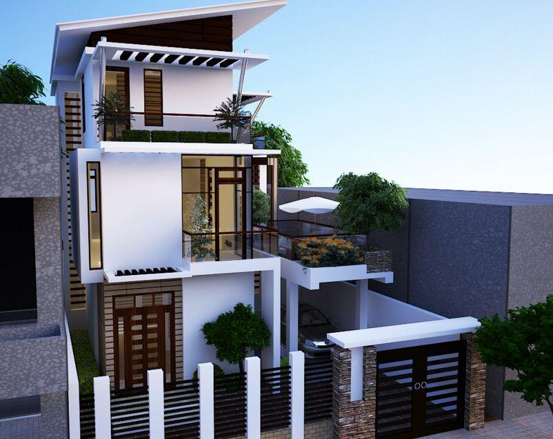 Fachadas de casas de 3 pisos for Pisos elegantes para casas