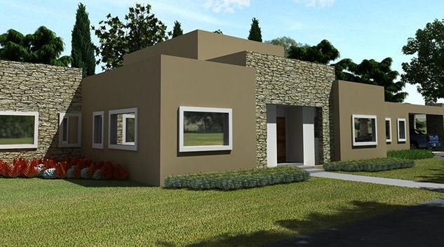 Fachadas de casas minimalistas part 2 for Casas modernas de una planta minimalistas
