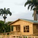 Fachadas de casas de madera