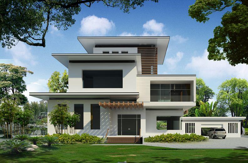Bonitas fachadas de casas campestres de un piso modernas - Modelos de casas de un piso bonitas ...