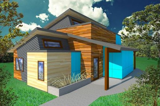 Casas modernas con techos inclinados