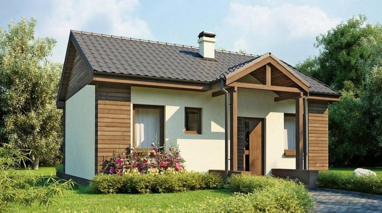 Fachada de casa peque a con planos for Chimeneas prefabricadas